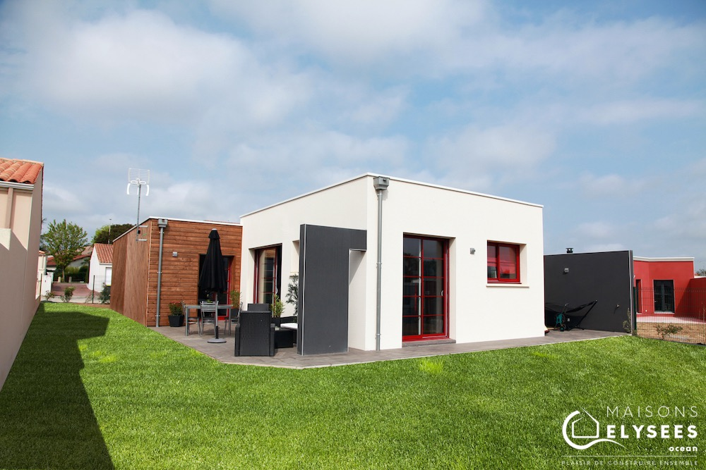 Maison contemporaine bois pour investissement locatif pinel construite en Charente Maritime
