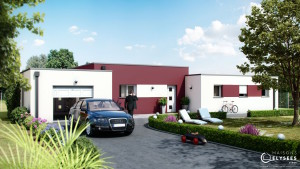 Maison moderne de plain pied en Charente Maritime