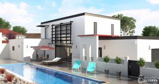 Vue 3D maison DOMPIERRE
