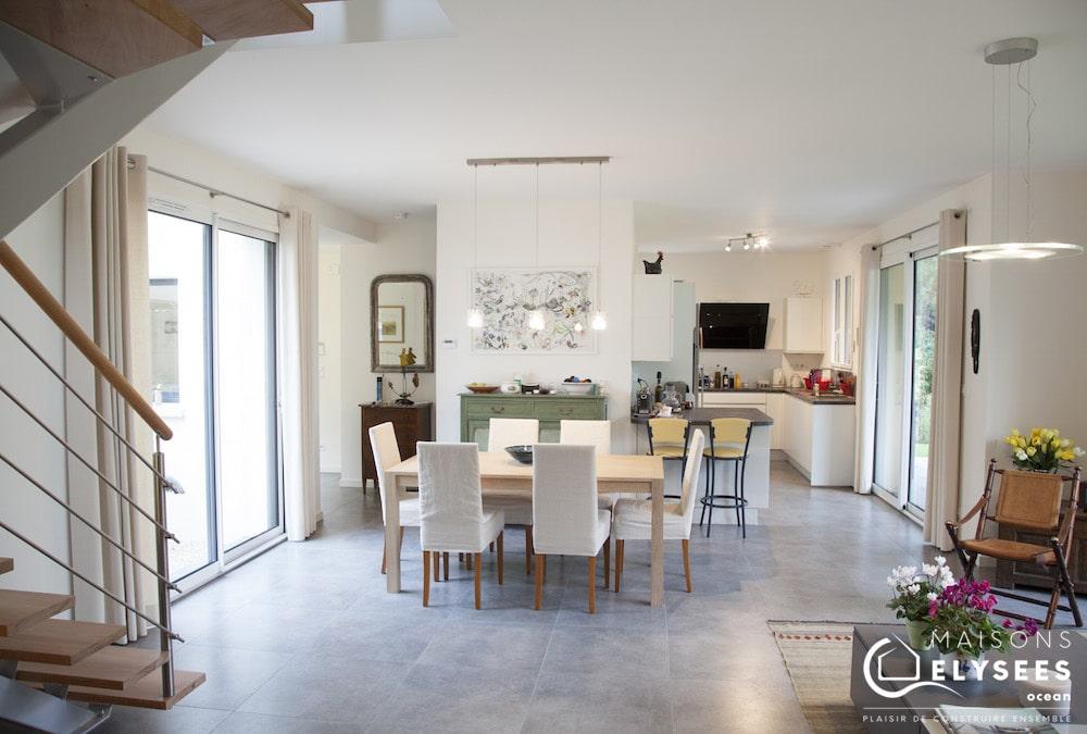 Maison Moderne cubique salon La Palmyre 17 120m2 2