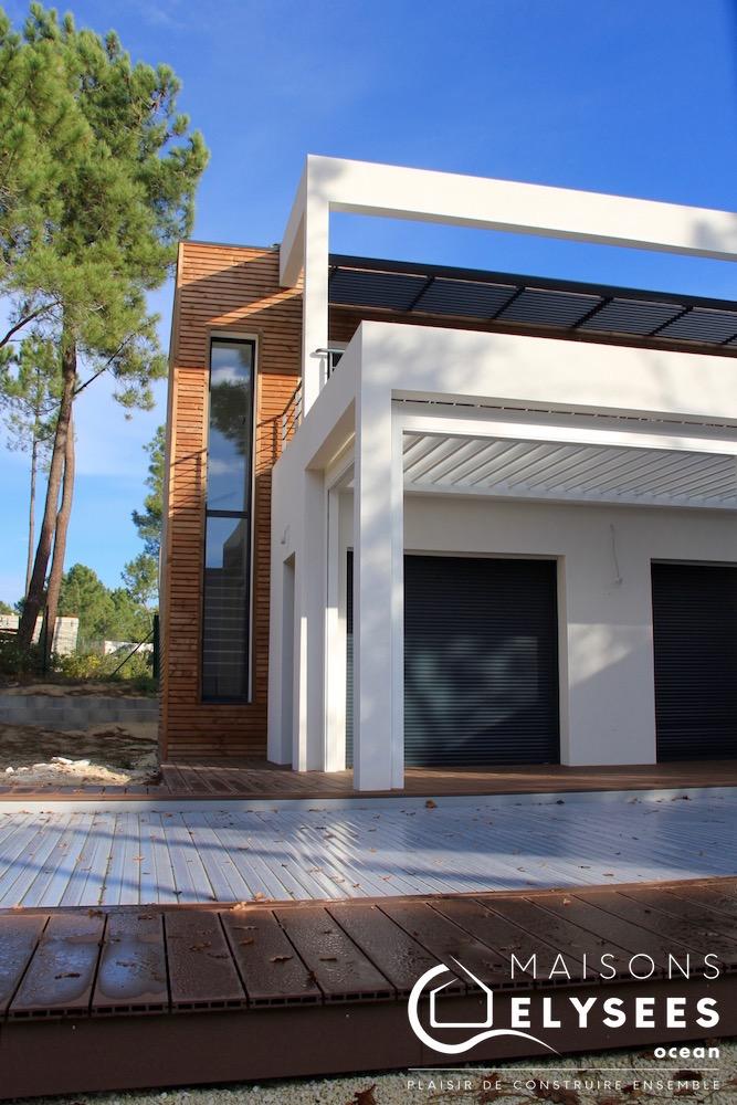 Carrelet Villa Contemporaine A Etage Et Clin Bois