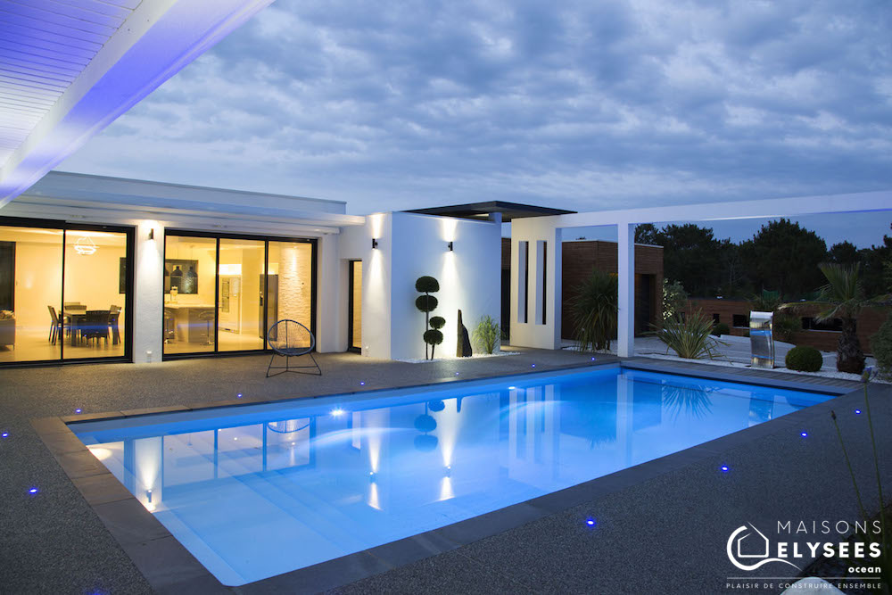 Villa contemporaine d 39 exception style californien for Plan maison architecte contemporaine
