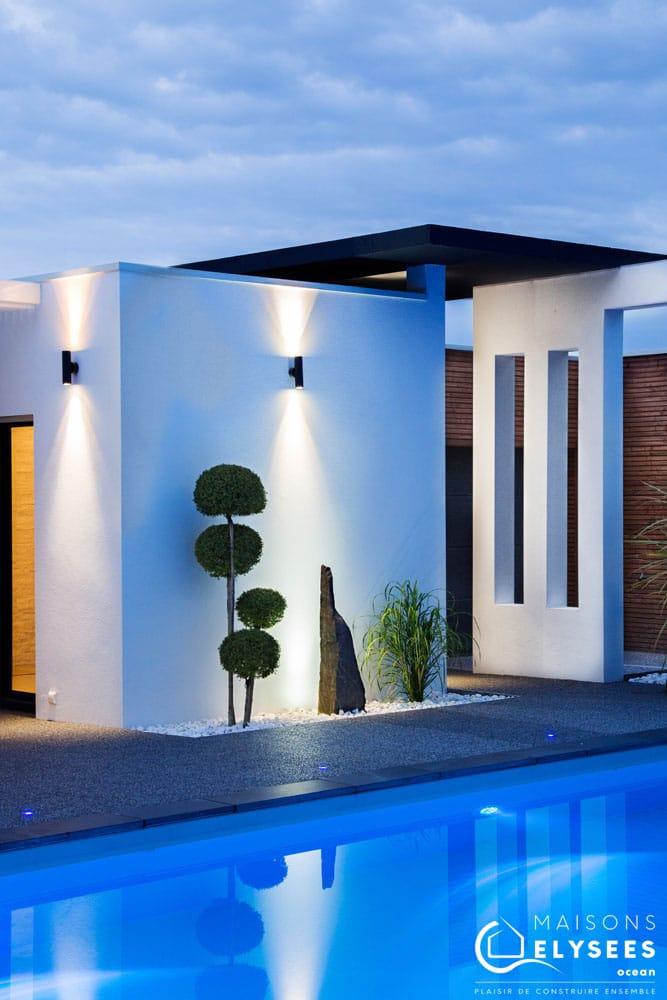 Maison architecte bord de mer arche béton 4