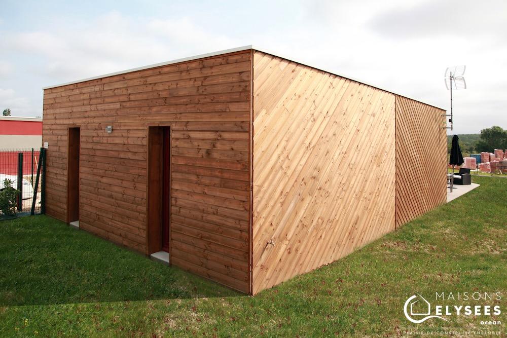 Détail Maison bois pour investissement locatif pinel construite à Saujon (17)