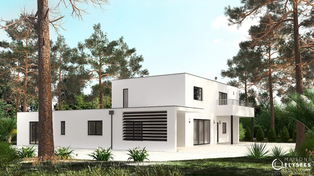 Maison d'architecte sur un golf LAGUN vue jardinE