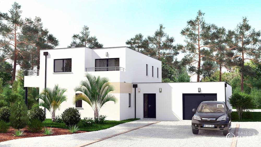 Lagune maison d 39 architecte avec grand patio et ouvertures - Modele d architecture de maison ...