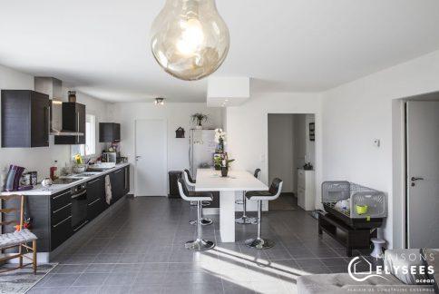 Maison de plain pied avec plan en L en Charente Maritime