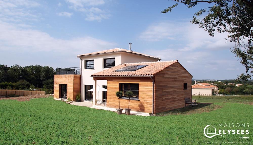Maison en bois avec toit plat à Saintes (17) 4 (1)