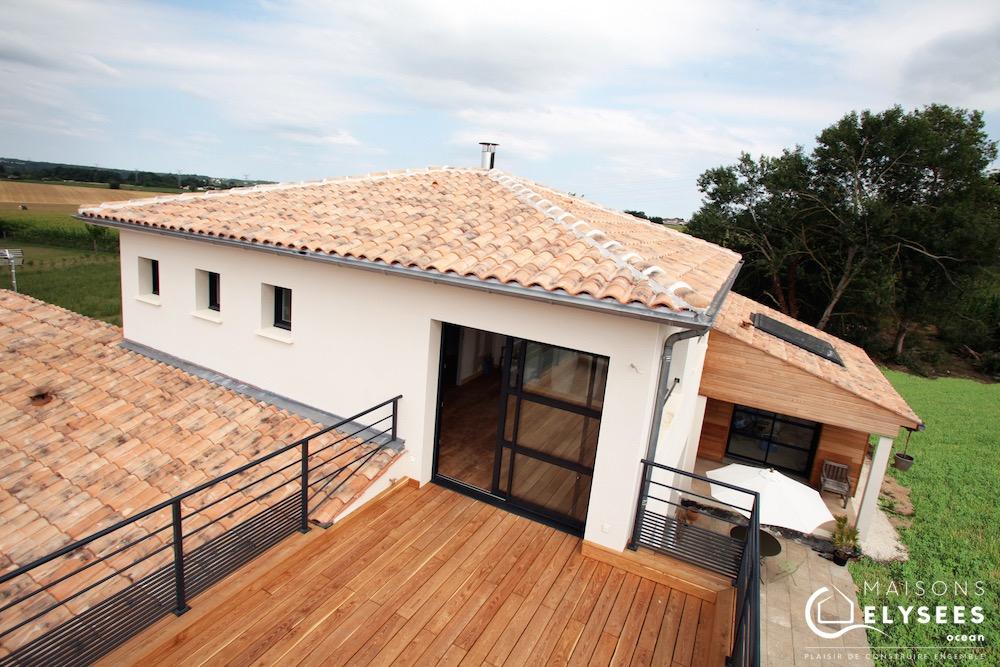 Maison en bois avec toit plat à Saintes (17) 6 (1)