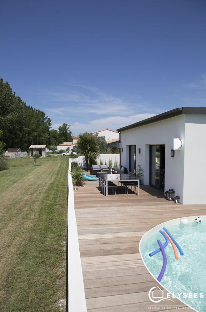 Maison moderne avec Bois  basse consommation 10