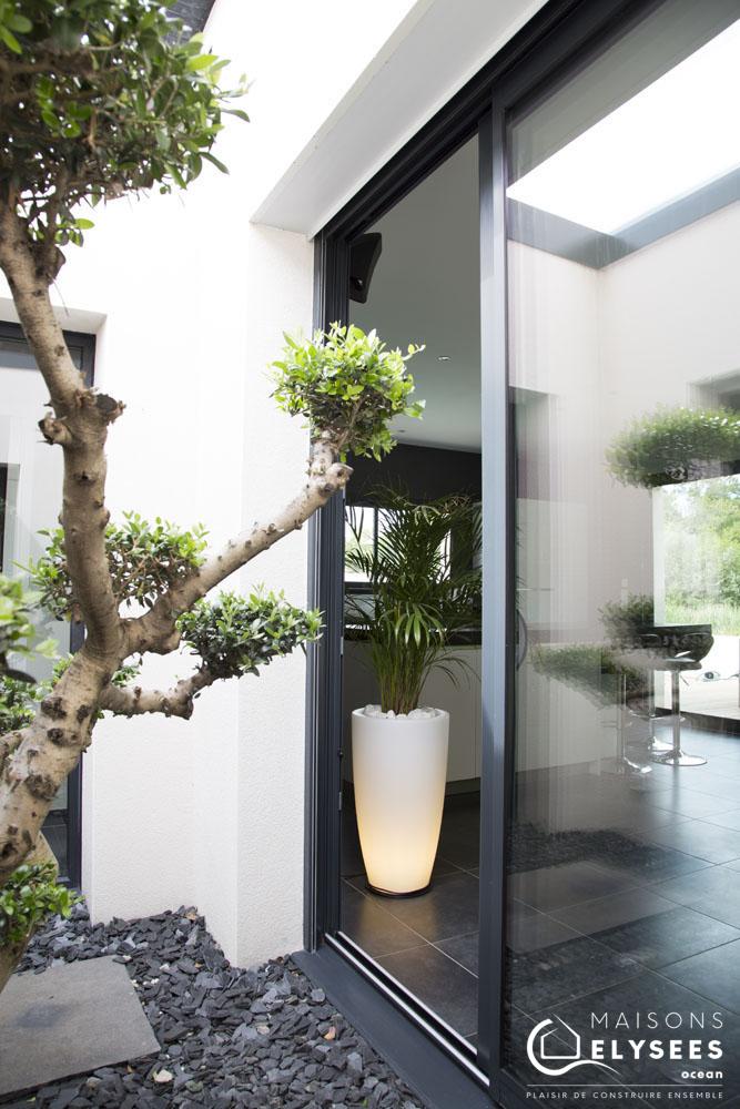Maison moderne avec Bois  basse consommation 3