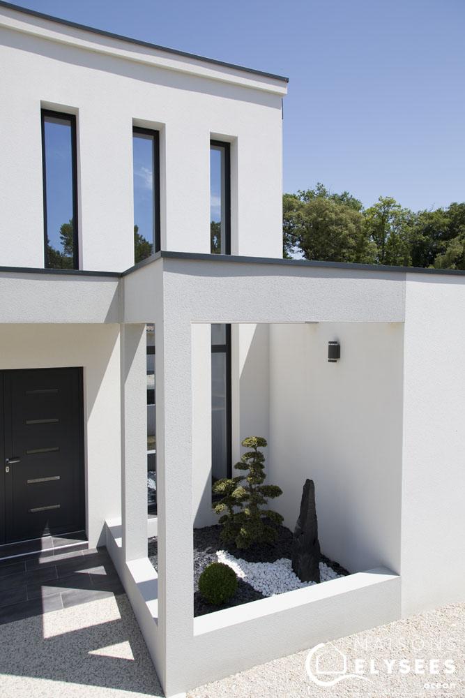 Maison contemporaine style unique - Plan maison avec tour carree ...