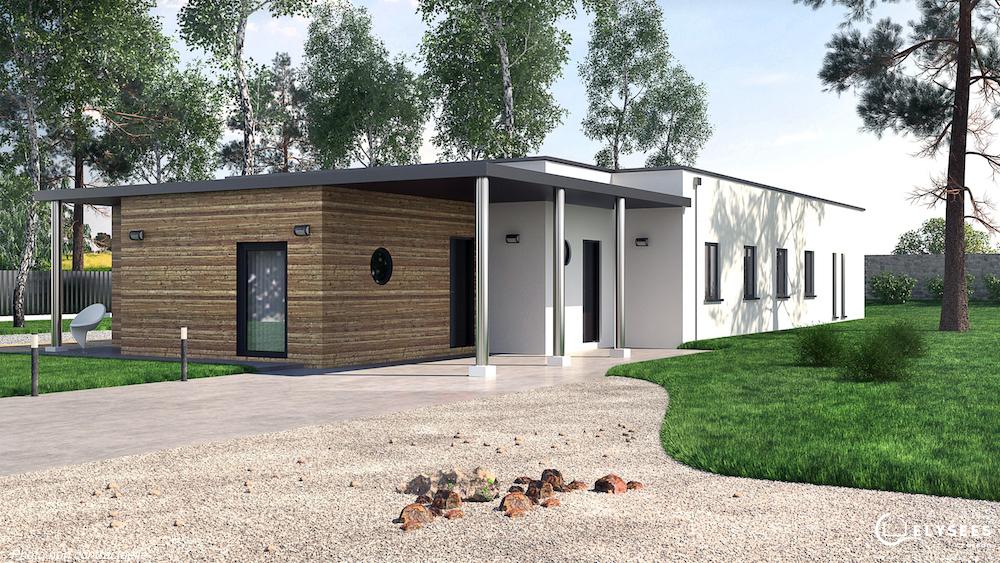Modele Maison Golf à toit plat
