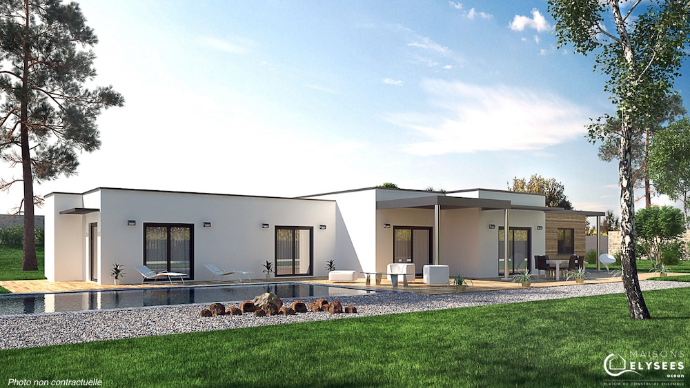 Golf maison contemporaine cubique et design - Modele d architecture de maison ...