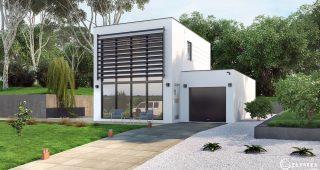 Modele Maison RT2012 avec mur rideau SOLIUM