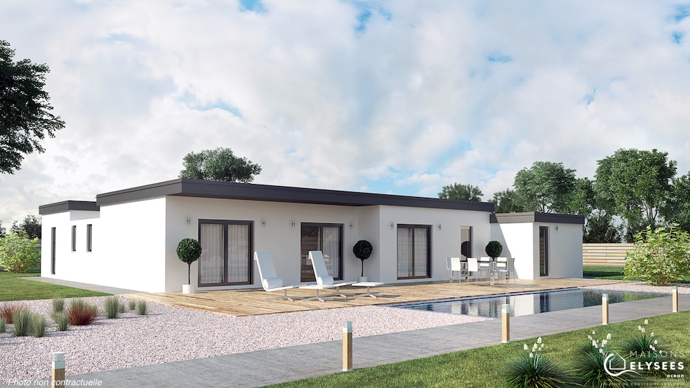 Maison toiture terrasse maison avec toit terrasse 1 plan for Plan toiture maison