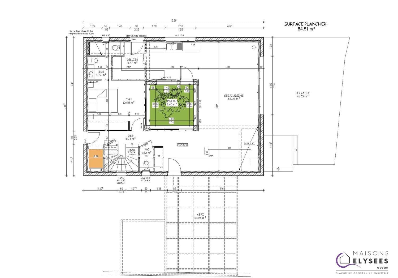#9B7430 Vaux Maison D'Architecte à étage Avec Patios Et Terrasse 3021 plan maison suite parentale rdc 1500x1047 px @ aertt.com