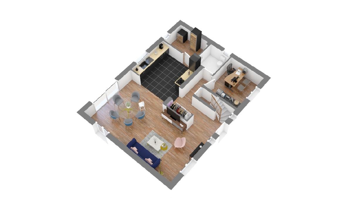 Plan maison ELysees Ocean_thilomiere-g0-axo_rdc