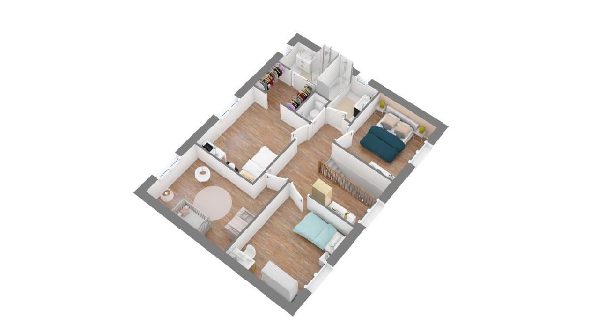 Plan maison ELysees Ocean_thilomiere-g1-axo_etage
