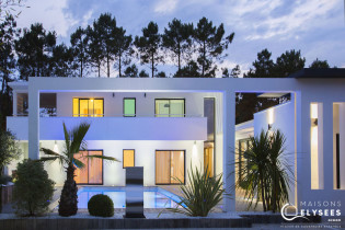 Villa contemporaine d'exception construite sur le Golf de La Palmyre (17)