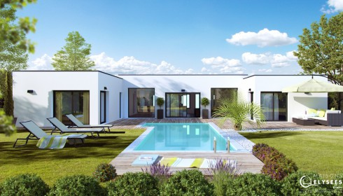Maison D'architecte Contemporaine Plain Pied