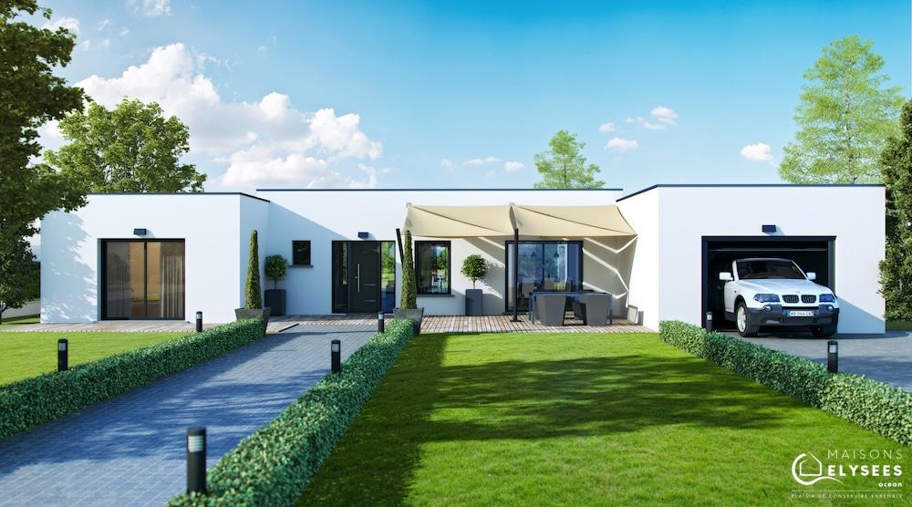 Visuel maison architecte marine entrée