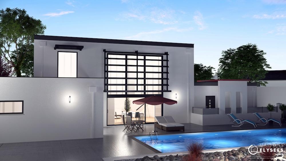 Vue 3D maison DOMPIERRE nuit
