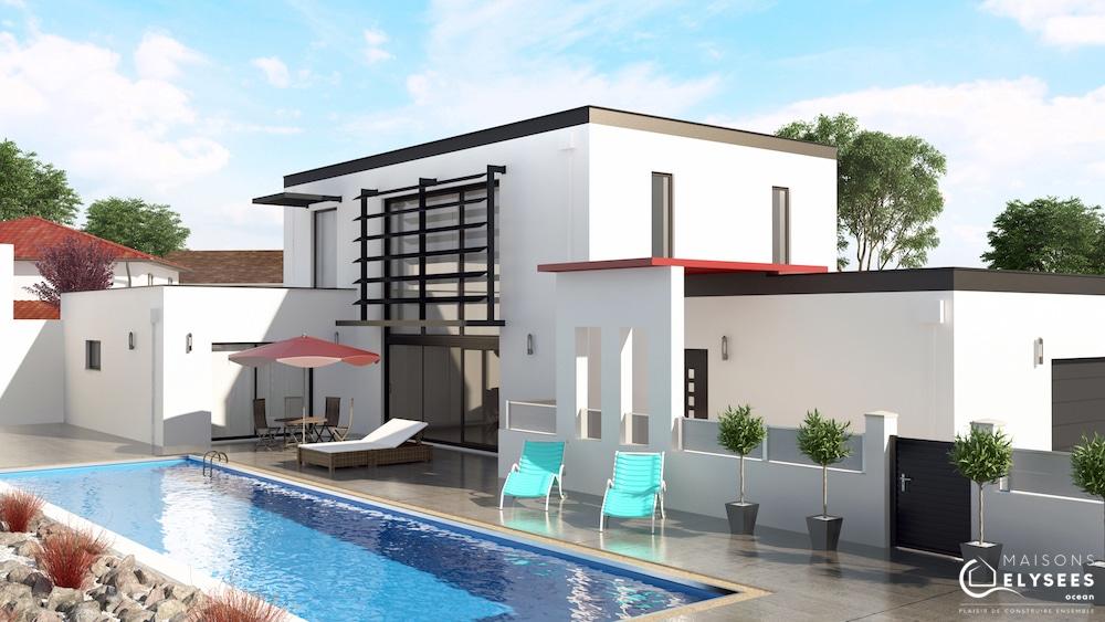 dompierre maison d 39 architecte avec mur rideau. Black Bedroom Furniture Sets. Home Design Ideas