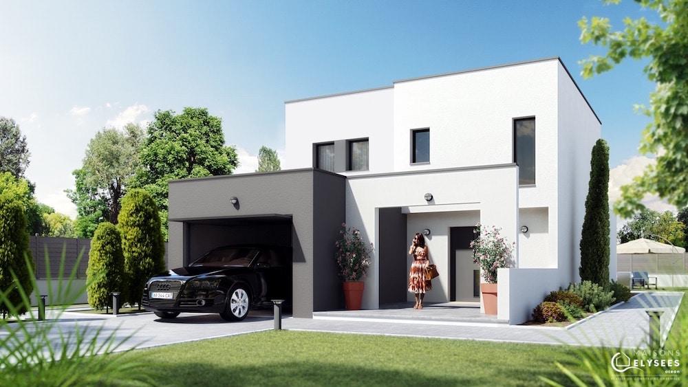 Symphonie maison contemporaine de ville for Modele de maison moderne en tunisie