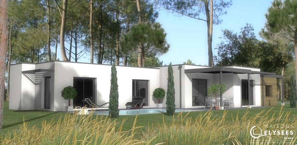 Maison contemporaine au milieu des pins en Charente Maritine