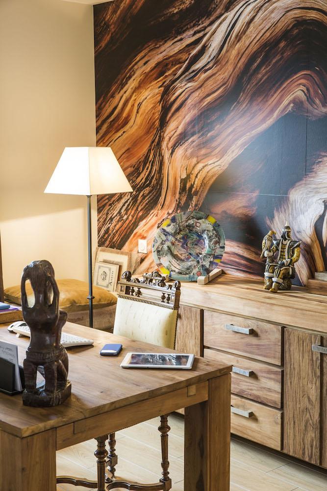 maison traditionnelle balneaire en U mobilier