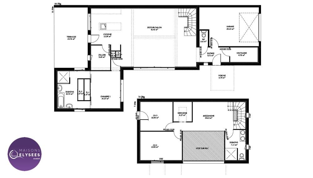 plan-maison-Architecte-Dompierre