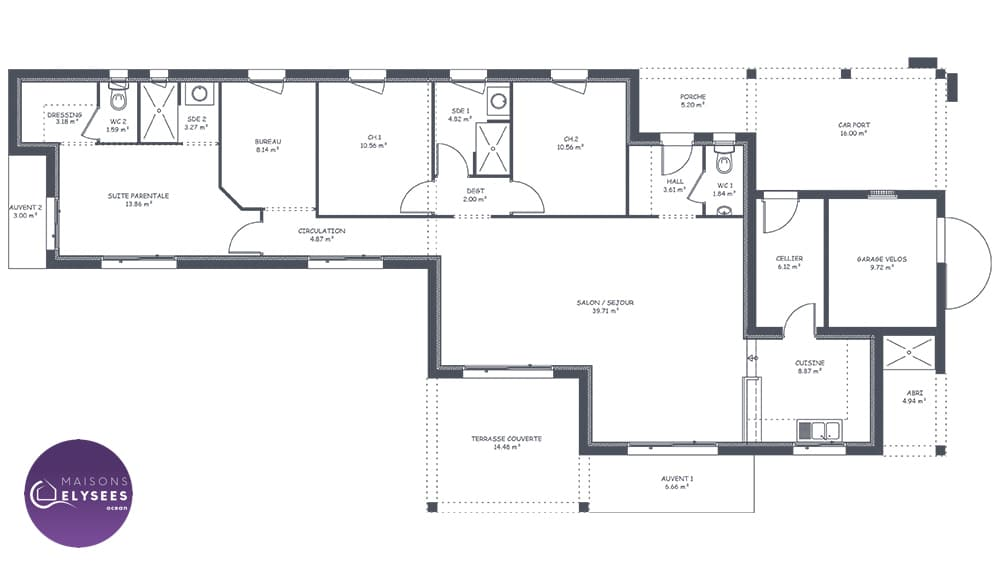 Golf maison contemporaine cubique et design for Plans maisons contemporaines