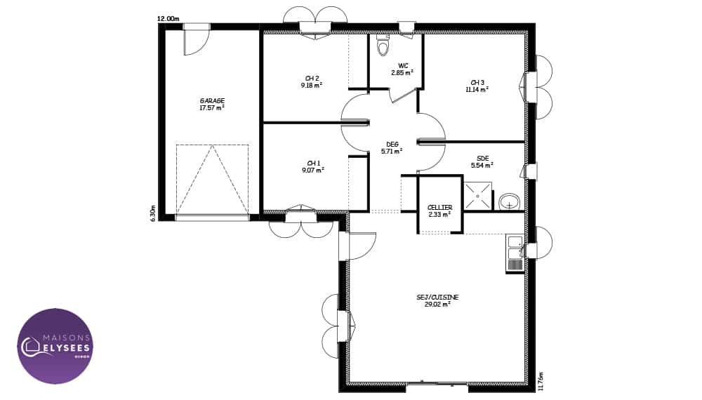 plan-maison-traditionnelle-Elena-75m2