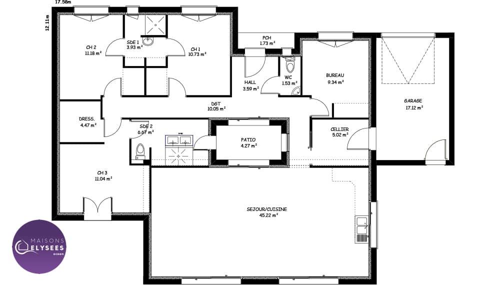 Maison Moderne Atria Plan Maison Gratuit Maisons Clair Logis 13