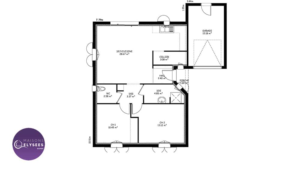 plan-maison-traditionnelle-Plan-IONA-68.5m-1