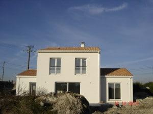 Construction d'une maison traditionnelle sur Mortagne sur Girond eCharente Maritime