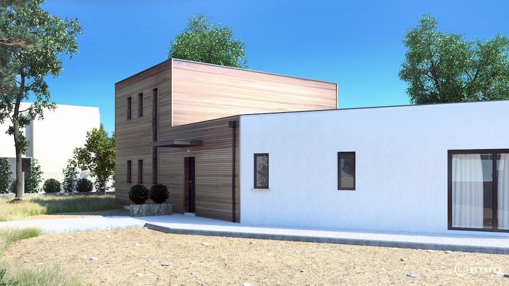 Carrelet maison architecte entrée