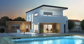 Plan 3D maison Vaux 1