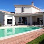 Maison balnéaire avec piscine construite en Charente Maritime