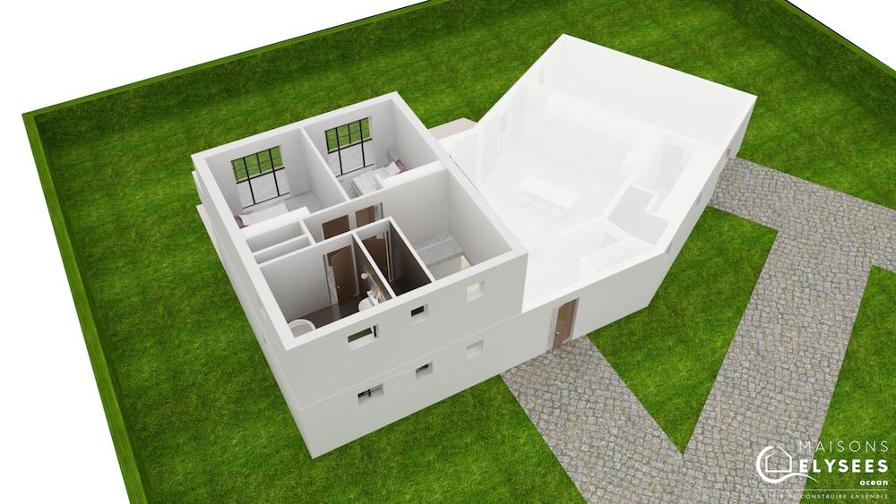 Plan 3D Maison carrelet2