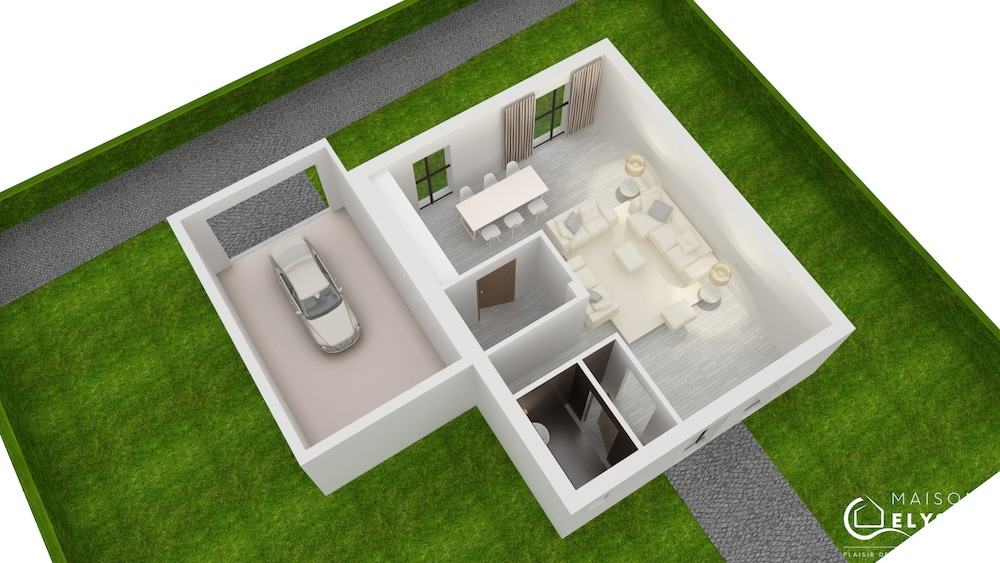 Plan 3D Maison evolium1