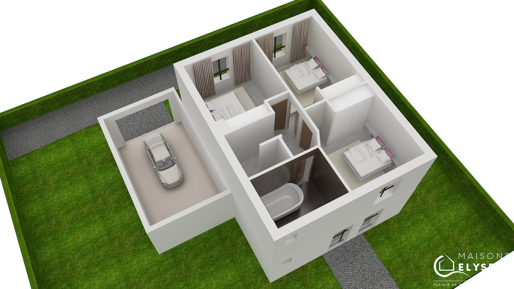 Plan 3D Maison evolium2