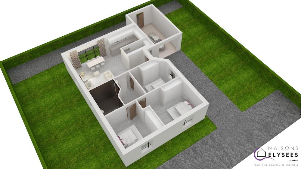 Plan 3D Maison norium