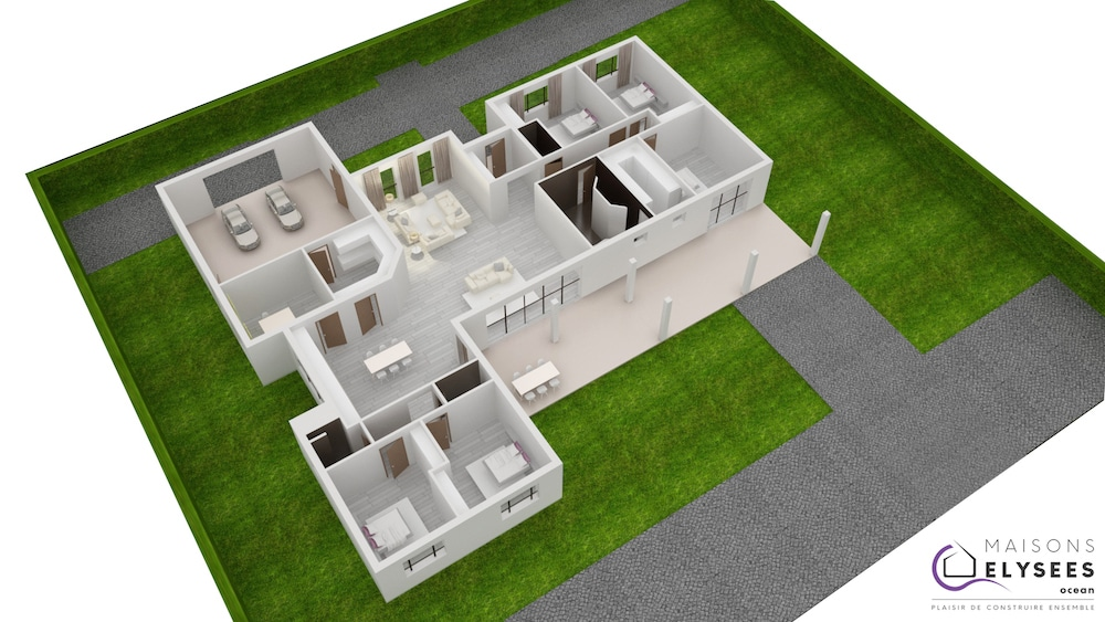Plan 3D Maison patia