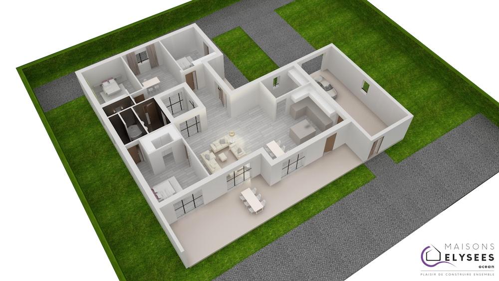 Plan 3D Maison patium