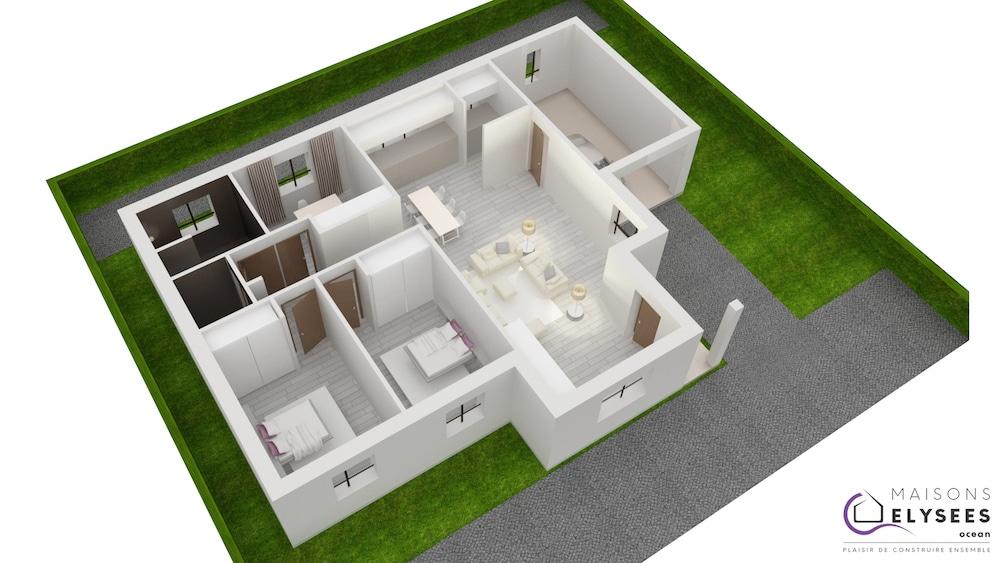 Plan 3D Maison soubria