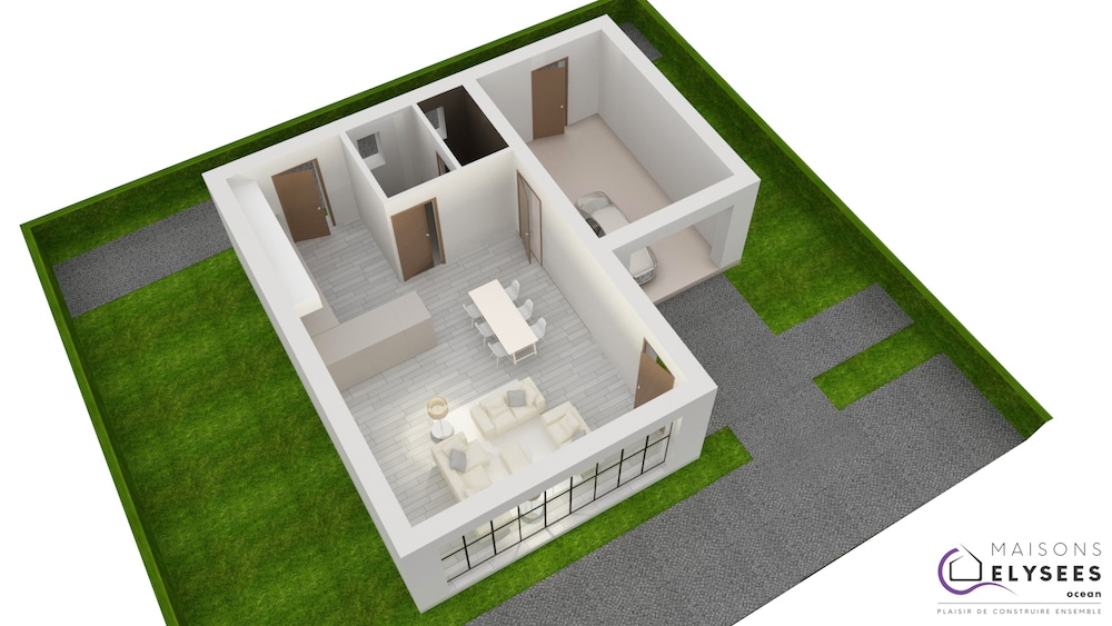 Plan 3D Maison solium