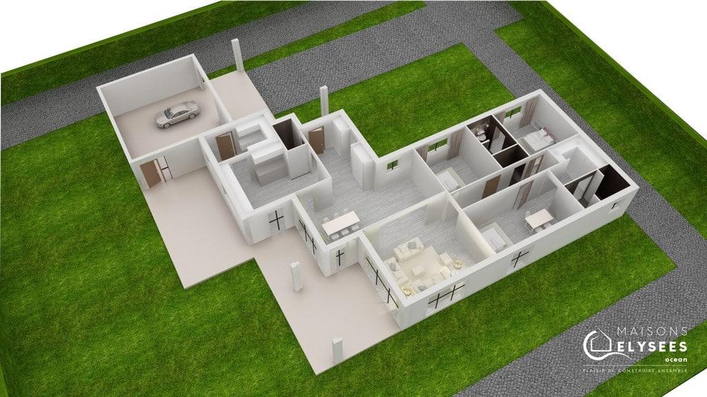 Plan  Maison moderne charente maritime impressa