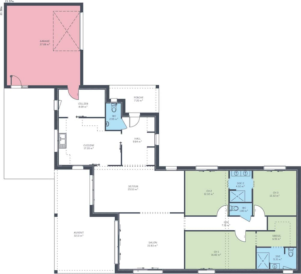 Plan maison impressa 152